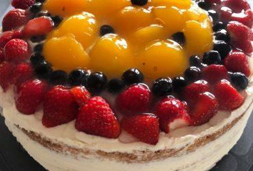 Von der Sonne geküsst nenne ich diese Torte